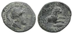 Ancient Coins - Kings of Thrace, Lysimachos (305-281 BC). Æ 15mm R/ LION