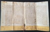 Ancient Coins - VERY RARE PARCHMENT IN THE NAME OF THE POPE INNOCENT XI B. Odescalchi 1688 ANNO XIII