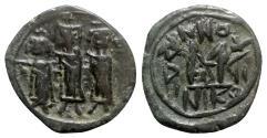 Ancient Coins - Heraclius (610-641). Æ 40 Nummi - Nicomedia, year 17