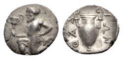 Ancient Coins - Island of Thrace, Thasos, c. 404-340 BC. AR Trihemiobol