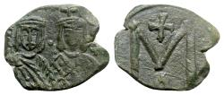 Ancient Coins - Michael II and Theophilus (820-829). Æ 40 Nummi - Syracuse