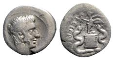 Ancient Coins - Augustus (27 BC-AD 14). AR Quinarius - Uncertain Italian or Ephesus