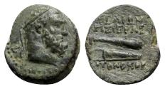 Ancient Coins - Cilicia, Aigeai, 2nd-1st century BC. Æ - Herakles / Club and quiver