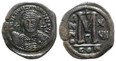 Ancient Coins - Justinian I (527-565). Æ 40 Nummi - Constantinople, year 17