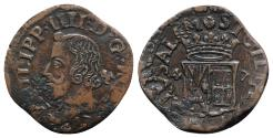 World Coins - Italy, Napoli. Filippo IV of Spain (1621-1665). Æ Grano 1647  NICE and RARE