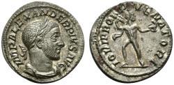 Ancient Coins - Severus Alexander (222-235). AR Denarius. Rome, AD 232. R/ JUPITER EXTREMELY FINE