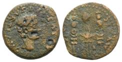 Ancient Coins - Drusus (Caesar, 19-23). Spain, Italica. Æ Semis. Struck under Tiberius.