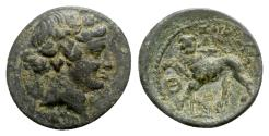 Ancient Coins - Lydia, Sardeis, 2nd-1st century BC. Æ - Dionysos / Panther