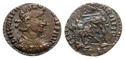 Ancient Coins - Constans (337-350). Æ - R/ Soldier spearing