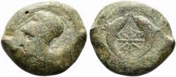 Ancient Coins - Sicily, Syracuse. Dionysios I (405-367 BC). Æ Drachm, c. 380 BC.