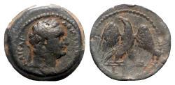 Ancient Coins - Domitian (81-96). Egypt, Alexandria. Æ Obol, Eagle.