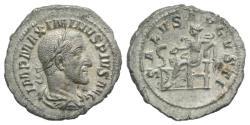 Ancient Coins - Maximinus I (235-238). AR Denarius. Rome, AD 236.  R/ SALUS