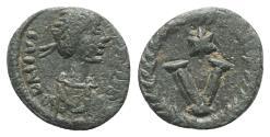 Ancient Coins - Justinian I (527-565). Æ 5 Nummi. Imitative (Sicilian?) mint, 538-565.