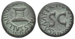 Ancient Coins - Augustus (27 BC-14 AD). Æ Quadrans. Rome, Apronius, Galus, Messalla, and Sisena, moneyers, 5 BC. Garlanded altar. R/ Large S·C.
