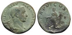 Ancient Coins - Severus Alexander (222-235). Æ Sestertius - R/ Aequitas