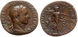 Ancient Coins - Severus Alexander (222-235). Æ Sestertius - Rome - R/ Mars