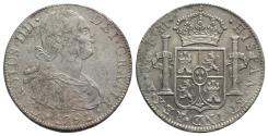 World Coins - Mexico, Carlos IV (1788-1808). AR 8 Reales 1791 FM, Mexico City