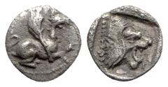 Ancient Coins - Troas, Assos, c. 479-450 BC. AR Hemiobol