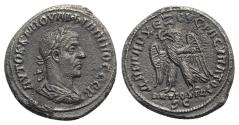 Ancient Coins - Philip I (244-249). Seleucis and Pieria, Antioch. AR Tetradrachm. AD 248-9. R/ EAGLE