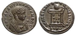 Ancient Coins - Constantine II ( Caesar, 316-337). Æ Follis - Treveri - R/ Globe on altar