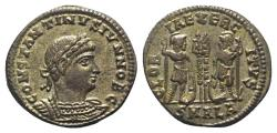 Ancient Coins - Constantine II (Caesar, 316-337). Æ 18mm. Alexandria. Extremely Fine