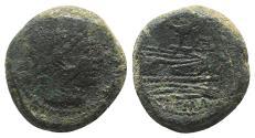 Ancient Coins - ROME REPUBLIC. Bird and Tod series, Rome, 189-180 BC. Æ Quadrans  VERY RARE