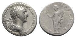 Ancient Coins - Trajan (98-117). AR Denarius - R/ Felicitas
