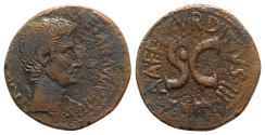 Ancient Coins - Augustus (27 BC-AD 14). Æ As - Rome - L. Naevius Surdinus, moneyer