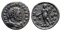 Ancient Coins - Licinius I (308-324). Æ Follis - Treveri - R/ Genius