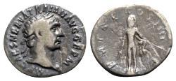 Ancient Coins - Trajan (98-117). AR Denarius - Rome - R/ Hercules