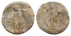 Ancient Coins - Roman PB Tessera, c. 1st century BC - 1st century AD. Fortuna / Mercury