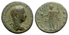 Ancient Coins - Severus Alexander (222-235). Æ As - Rome - R/ Emperor standing