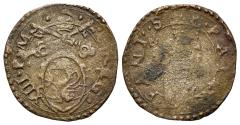 World Coins - Italy, PAPAL STATE.  Fano. Gregorio XIII (1572-1585). BI Quattrino