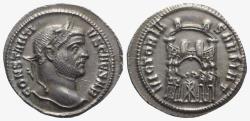 Ancient Coins - Constantius I (Caesar, 293-305). AR Argenteus. Ticinum, c. AD 295. NICE EXTREMELY FINE