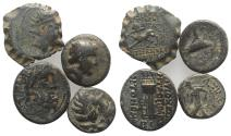Ancient Coins - Group of 4 Greek Æ coins, including Phoenicia and Seleukid Kingdom