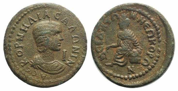 Ancient Coins - Salonina (254-268). Pamphylia, Side. AE 31mm VERY RARE