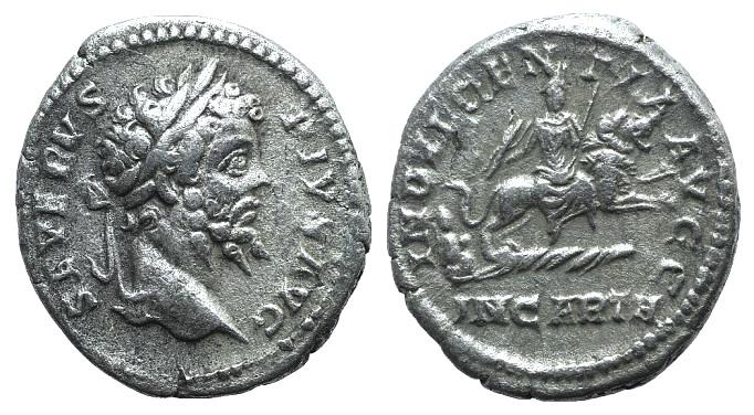 Ancient Coins - Septimius Severus (193-211). AR Denarius. Rome, 203.  R/ Dea Caelestis