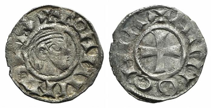 World Coins - Antioch. Bohemund III (Minority, 1149-1163). AR Denier