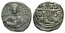 Ancient Coins - Anonymous. Time of Romanus III, circa 1028-1034. Æ Follis. Class B. Constantinople mint.