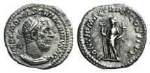 Ancient Coins - Macrinus (217-218). AR Denarius. Rome, 217-8.  R/ Felicitas