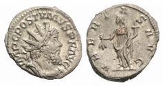 Ancient Coins - Postumus. Romano-Gallic Emperor, AD 260-269. AR Antoninianus. Treveri (Trier) mint. R/ UBERITAS