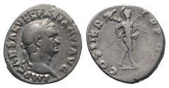 Ancient Coins - Vespasian (69-79). AR Denarius - R/ Mars