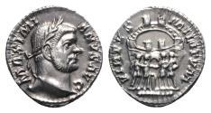 Ancient Coins - Maximianus Herculeus (286-305), AR Argenteus. Ticinum, 294-295 EXTREMELY FINE