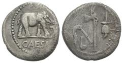 Ancient Coins - The Caesarians. Julius Caesar. April-August 49 BC. AR Denarius  ELEPHANT