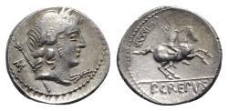 Ancient Coins - Pub. Crepusius, Rome, 82 BC. AR Denarius