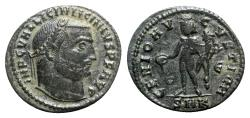 Ancient Coins - Licinius I (308-324). Æ Follis - Cyzicus - R/ Genius
