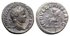 Ancient Coins - Caracalla (198-217). AR Denarius - Rome - R/ Indulgentia