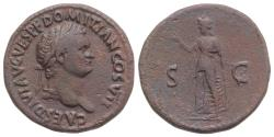 Ancient Coins - Domitian (81-96). Æ As. Rome, AD 80. R/ SPES