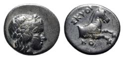 Ancient Coins - Ionia, Kolophon, c. 360-330 BC. Æ - Skythi-, magistrate