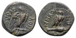 Ancient Coins - Phrygia, Synnada. Pseudo-autonomous, time of Tiberius (14-37). Æ - Klaudios Valerianos, magistrate